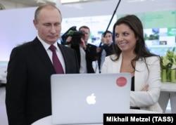 Vladimir Putin și Margarita Simonian, imagine de arhivă