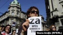 Sindikalni protesti u Beogradu