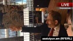 Премьер-министр Армении Никол Пашинян на открытии выставки в ПАСЕ, посвященной бархатной революции в Армении, Страсбург, 11 апреля 2019 г.