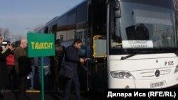 Чимкенттен Ташкентке каттай баштаган. Чимкен, 5-январь, 2018-жыл