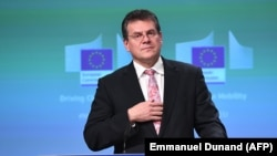 European Commission Vice President Maros Sefcovic (file photo)