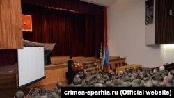 Зустріч військовослужбовців Космічних сил Росії зі священиком УПЦ МП