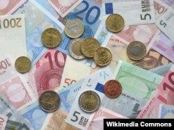 Novčanice eura - ilustracija