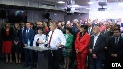 Бойко Борисов и ГЕРБ по време на пресконференцията на 17 юни 2020 г.