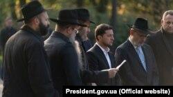 Президент України Володимир Зеленський у Бабиному Яру в Києві, 8 жовтня 2019 року