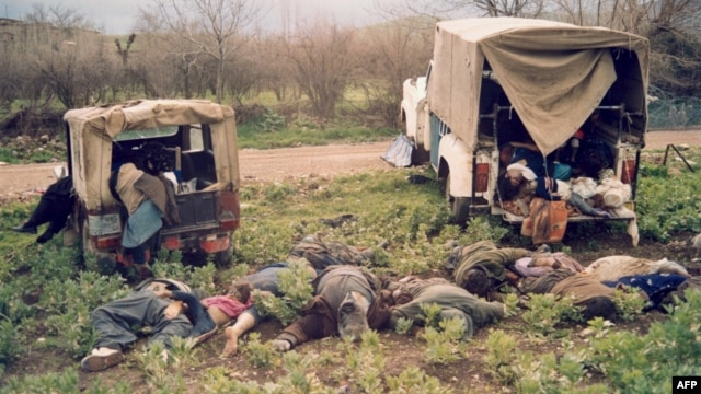 About 5,000 Kurdish adults and children were killed by the Iraqi chemical attack on the town of Halabja in northeastern Iraq on March 16, 1988.