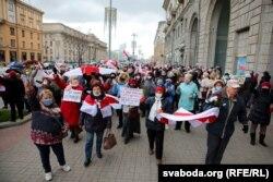 Марш пэнсіянэраў у Менску, 9 лістапада.