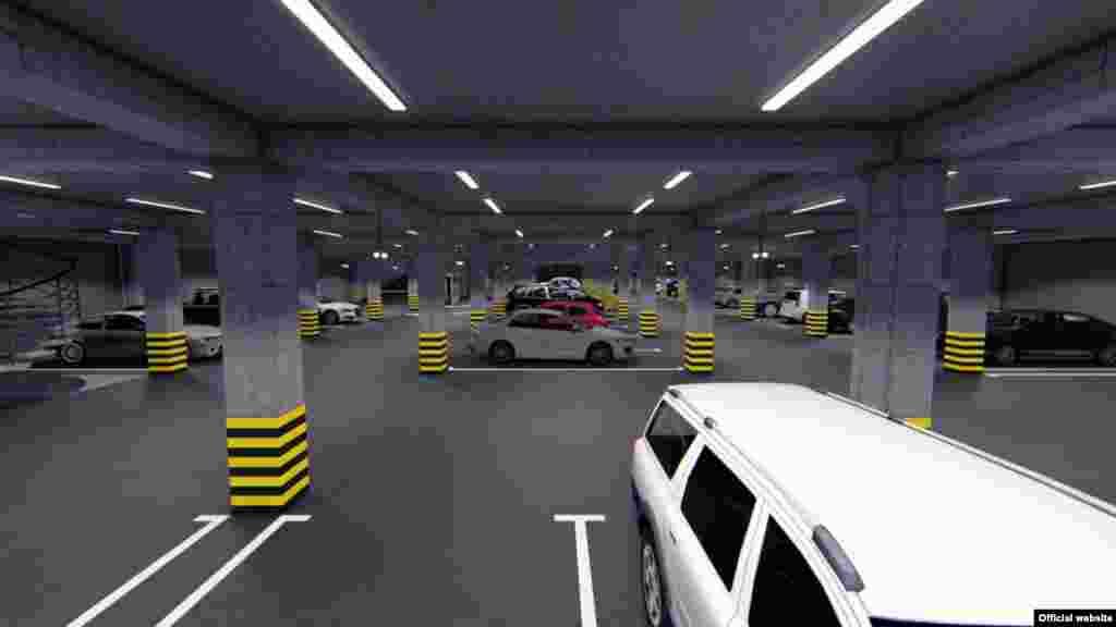 В связи с актуальной проблемой организации автопарковок в центральной части города Бишкек, проектом предлагается организация автопаркинга в подземной части проектируемого сквера.