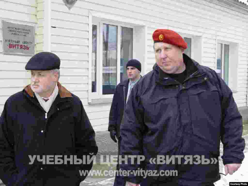Russia -- Sergei Mironov visiting the Vityaz training center, 07Nov2006