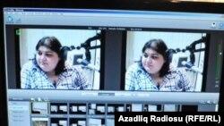 Азербайджанская журналистка Хадиджа Исмаилова на видео. Баку, 16 марта 2012 года.