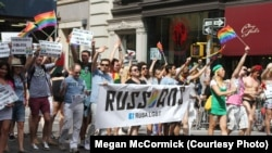 Russian-Speaking New Yorkers March For Gay Rights