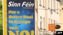 """Irlandë - Poster i kampanjës për Traktatin e Lisbonës, me mbishkrimin """"Mos voto!""""."""