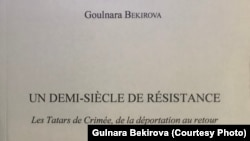 Tarihçı Gülnara Bekirovanıñ fransiz tilinde çıqqan kitabınıñ cıltı