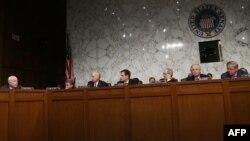 ԱՄՆ - Սենատորները Սիրիայում ռազմական գործողությանը վերաբերող որոշման քվեարկությունից առաջ, Վաշինգտոն, 4-ը սեպտեմբերի, 2013թ․