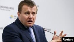 Украина энергетика министрі Владимир Демчишин. Киев, 1 сәуір 2015 жыл.
