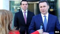 Премиерот Никола Груевски дава изјава по средбата со генералниот секретар на ОН Бан Ки Мун во Њујорк, САД.