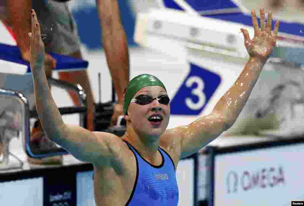 Рита Мейл (Литва) святкує свою перемогу