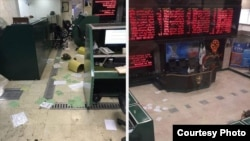 Tehran Stock Exchange after angry protesters stormed it on July.1.2017