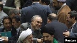علیاکبر صالحی در جلسه اخذ رأی اعتماد در مجلس