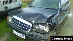 Автомобиль Абдурешита Джеппарова после ДТП