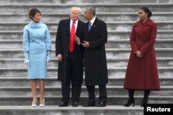 B.Obama D.Trump-ın andiçmə mərasimində.