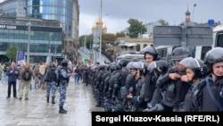 Полиция на Трубной площади в Москве, 3 августа 2019