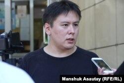 Главный редактор газеты «Трибуна» Жанболат Мамай. Алматы, 12 июля 2016 года.