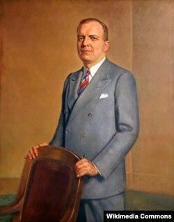 Официальный портрет губернатора Миннесоты Гарольда Стассена. Художник Карл Бонен. 1943