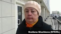 "Азиза Козова, пайщица ЖСК ""Тулпар-8"". Астана, 22 апреля 2014 года."