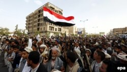 هواداران حوثیها در تجمعی در صنعا