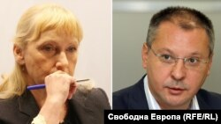 Елена Йончева и Сергей Станишев (колаж)