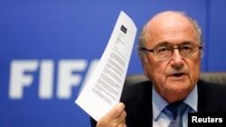 FIFA президенты Зепп Блаттер