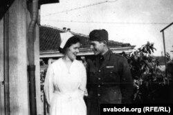 Агнэс фон Куроўскі і Эрнэст Хэмінгуэй у Мілане ў 1918 годзе