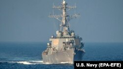 The U.S. Navy vessels include three Arleigh Burke-class Aegis destroyers. (file photo)