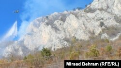 Gašenje požara na području Rujišta, 7. novembar 2015., RSE/Foto: Mirsad Behram