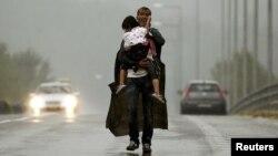 یک پناهجوی سوری در خاک یونان
