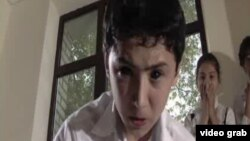 "Character Bekzod Sobirov turns into a boy possessed by demons in ""River Song,"" by Uzbek filmmaker Sharaf Boshbekov and director Fakhriddin Shamsimetov."