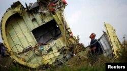Рештки літака«Боїнг-777» рейсу MH17 на Донбасі