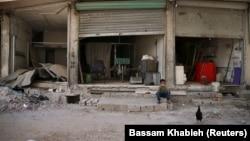 کودک سوری در حاشیه شرقی دمشق