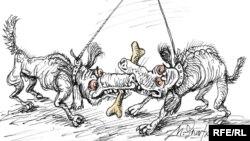 """Карикатура Михаила Златковского """"Брань милых"""""""