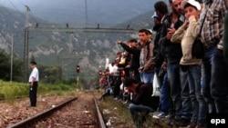 Grupa migranata u Makedoniji