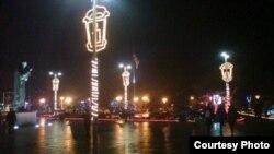 Градот Охрид украсен со новогодишни украси. 2011