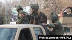 Сотрудники сил безопасности Афганистана в Кабуле.