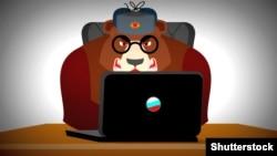 Российские хакеры. Карикатура