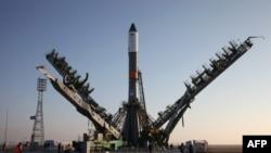 Ракета-носитель «Союз-У» на стартовой площадке на космодроме Байконур, Казахстан, 29 ноября 2016 года.