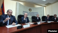 Armenia - The Public Services Regulatory Commission votes to raise the electricity prices, Yerevan, 17Jun2015.