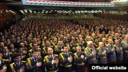 Таджикские милиционеры.