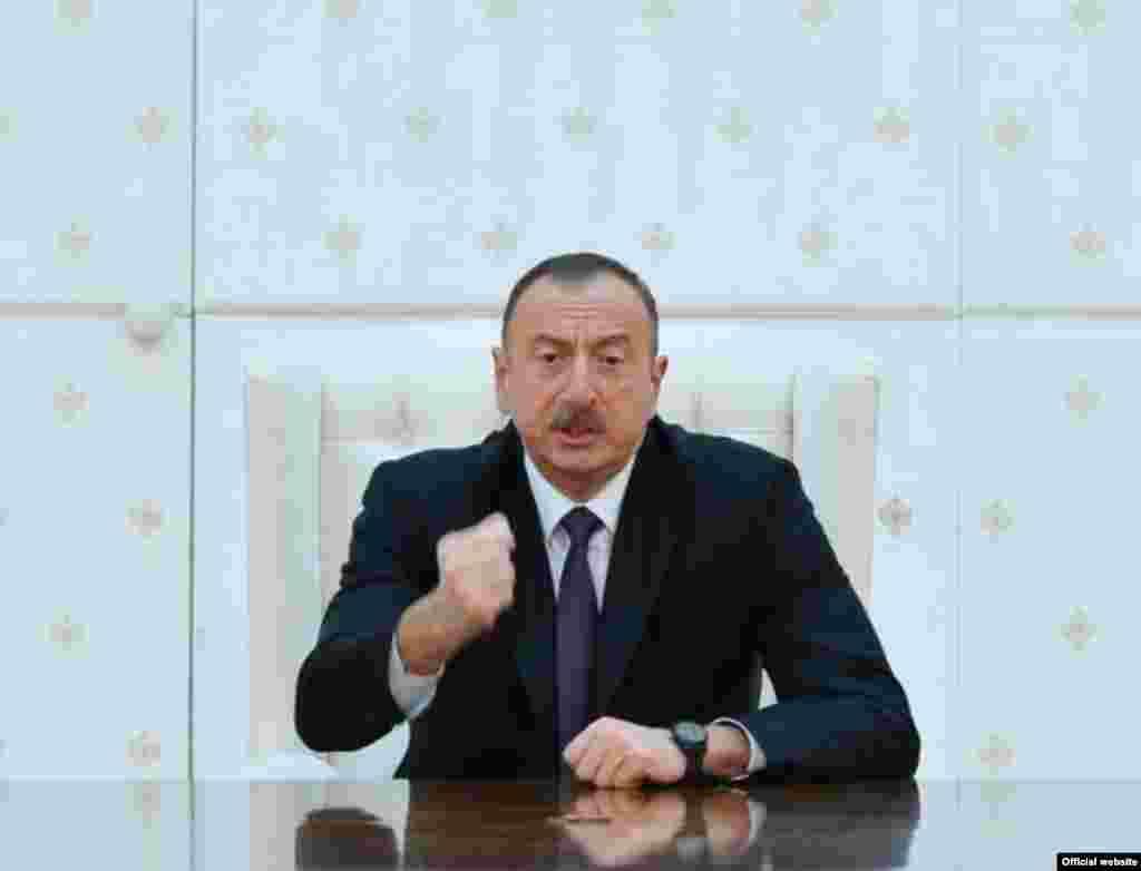 Президент Азербайджану Ільхам Алієв виступив на засіданні Ради безпеки в Баку 3 квітня