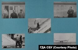 Photos of Galeotti taken in Kyiv by the KGB during his expulsion from the Soviet Union on September 11, 1963.