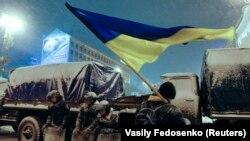Засніжений Євромайдан